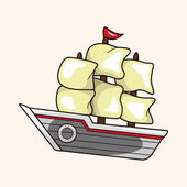 Transportation boat theme elements — Stock Vector