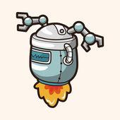 Robot theme elements — Stock Vector