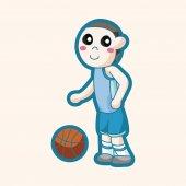 Basketbalový hráč motivu — Stock vektor