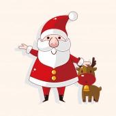 Santa claus motivu — Stock vektor
