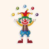 Clowns theme elements — Stock Vector