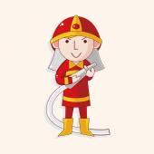 Fireman theme elements — Stock Vector
