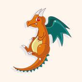 Dragon theme elements — Vector de stock