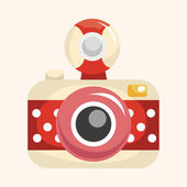 Camera theme elements — Stock Vector