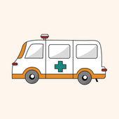 Vervoer ambulance thema elementen vector, eps — Stockvector