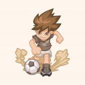 Sport football joueur thème éléments vectoriels, eps — Vecteur