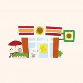 Building convenient shop theme elements  — Stock Vector