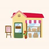 Building shop theme elements  — Stock Vector