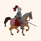 Knight theme elements vector,eps — Stock Vector