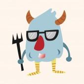 Monster cartoon theme elements vector,eps — Stock Vector