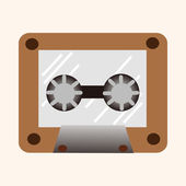 Audiotape theme elements vector,eps — Stock Vector