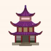 Chinese building theme elements vector,eps — Stock Vector