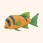 Fish theme elements vector,eps — Stock Vector