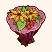 Flower bouquet theme elements vector,eps — Vettoriale Stock