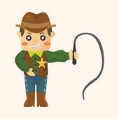 Cowboy theme elements — Vettoriale Stock