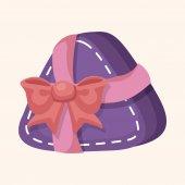 Decorating gift theme elements  — Stock vektor