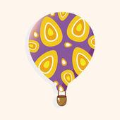 Stil varmluft ballon tema element vektor, eps — Stockvektor