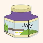 Fruit jam theme elements vector,eps — Stock Vector