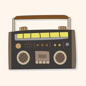 Radio theme elements vector,eps — Stockvector