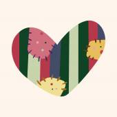 Love heart cartoon elements vector,eps — Stockvektor