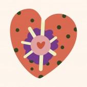 Love heart cartoon elements vector,eps — Stock Vector