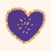 Love heart cartoon elements vector,eps — Vettoriale Stock