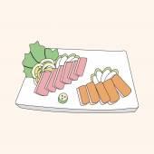 Japanese food theme Sashimi elements vector,eps — Stock Vector