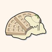 Pancake theme element — Stock vektor