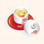 Japanese food steamed egg — Stockvektor