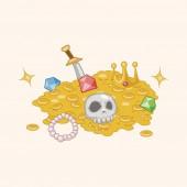 Treasure theme elements — Stock Vector