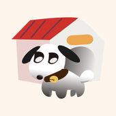 Pies pieścić elementy tematyczne — Wektor stockowy