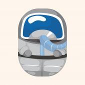 Spaceman theme elements — Stock Vector