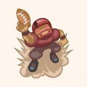 Football player theme elements — Stock Vector