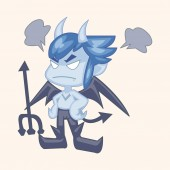Bizarre monster theme elements — Stock Vector