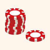 Casino number ball theme elements — Stock Vector