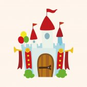 Amusement park facilities theme elements — Stock Vector