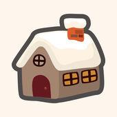 姜饼房子主题元素 — 图库矢量图片