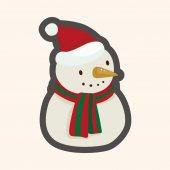 Snowman cartoon theme elements — Stock Vector