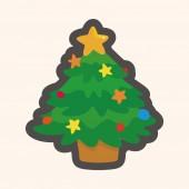 Christmas tree theme elements — Stock Vector