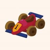 F1 racing theme elements — Stock Vector