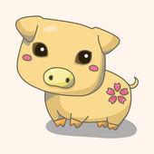 Animal cartoon theme elements — Stock Vector