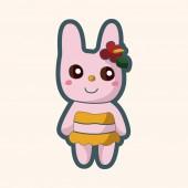 Animal summer cartoon theme elements — Cтоковый вектор