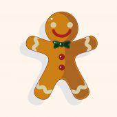 Gingerbread man theme elements — Stock Vector