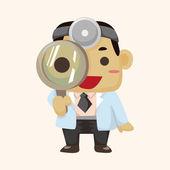 People theme doctor theme elements — Stock vektor