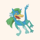 Bizarre monster dragon theme elements — Stock Vector