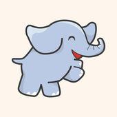 Animal elephant cartoon theme elements — Stock Vector