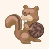 Animal squirrel cartoon theme elements — Vetor de Stock