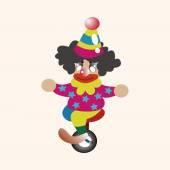 Circus clown theme elements — Stock Vector