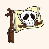 Pirátské vlajky motivu — Stock vektor
