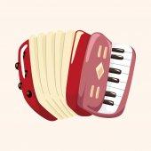 Instrument accordion cartoon theme elements — Stock Vector